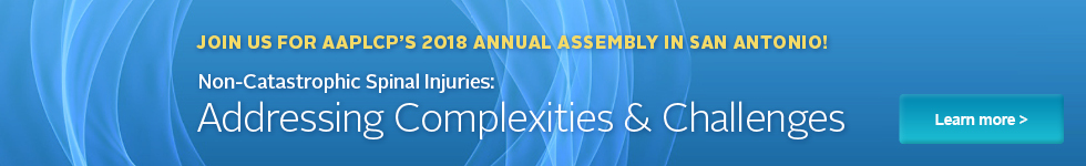 Annual Assembly 2018 Non-Catastrophic Spinal Injuries:Addressing Complexities & Challenges